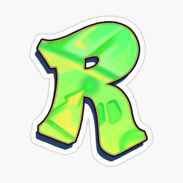 R - green/yellow Sticker