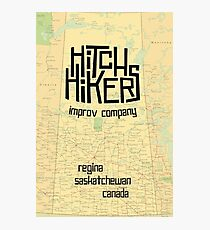 Hitchhikers Improv Map Photographic Print