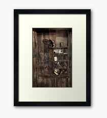 Still Life in a Shearing Shed - Wirrealpa Station - South Australia Framed Print