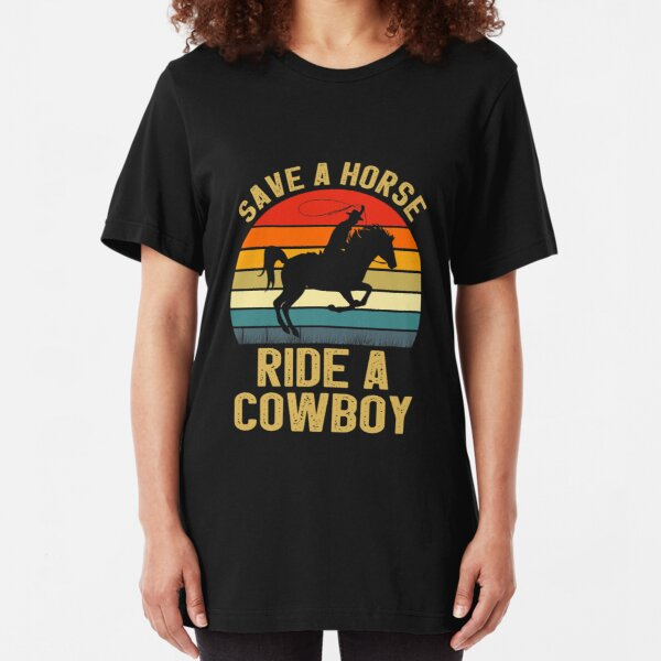 KEEP CALM AND RIDE A HORSE Birthday Gift Present New Ladies T-shirt
