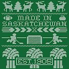 Saskatchewan Ugly Sweater (White) by madeinsask