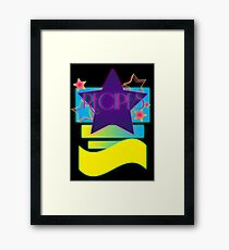 NOTEBOOKS-Recipes: 80s Retro Gradient Stars Framed Print