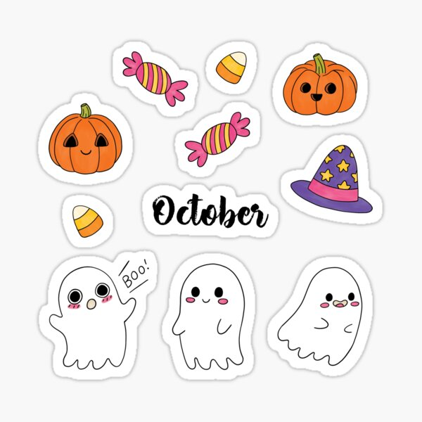 Bullet Journal October Halloween Sticker