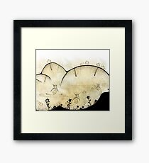 Monde Graine chinois - Chinese seed world Framed Print
