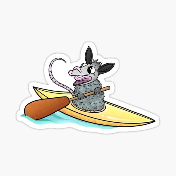 Kayaking Possum Sticker