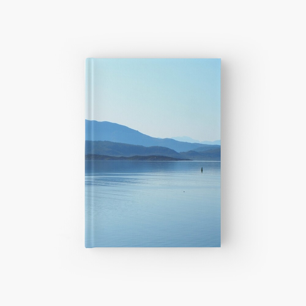 peace and tranquility on the sea Hardcover Journal