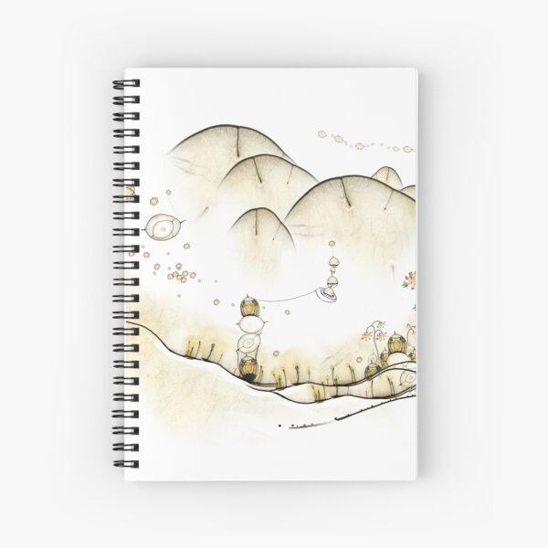 Monde Graine bohème - bohemian seed world Spiral Notebook