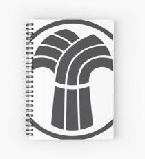 Made in Saskatchewan Sheaf Logo (Black) Spiral Notebook