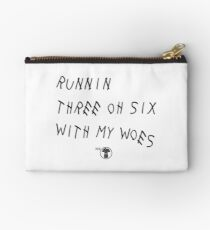 Runnin' 306 With My Woes Studio Pouch