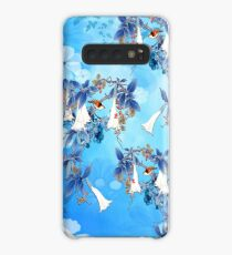 Illustrated  White Watercolor Moonflowers Case/Skin for Samsung Galaxy