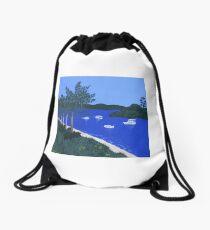 Major's Bay on a Sunny Day Drawstring Bag