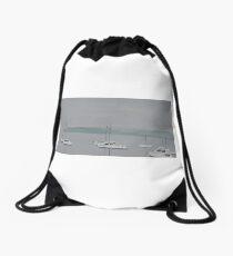 From Elliot Street, Balmain on a Misty Day Drawstring Bag