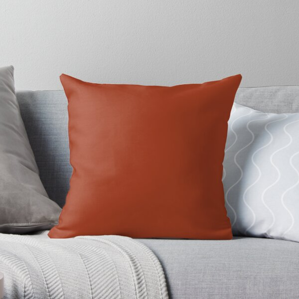 Best Seller - Colors of Autumn Burnt Orange Single Solid Color - Accent Shade / Hue Throw Pillow