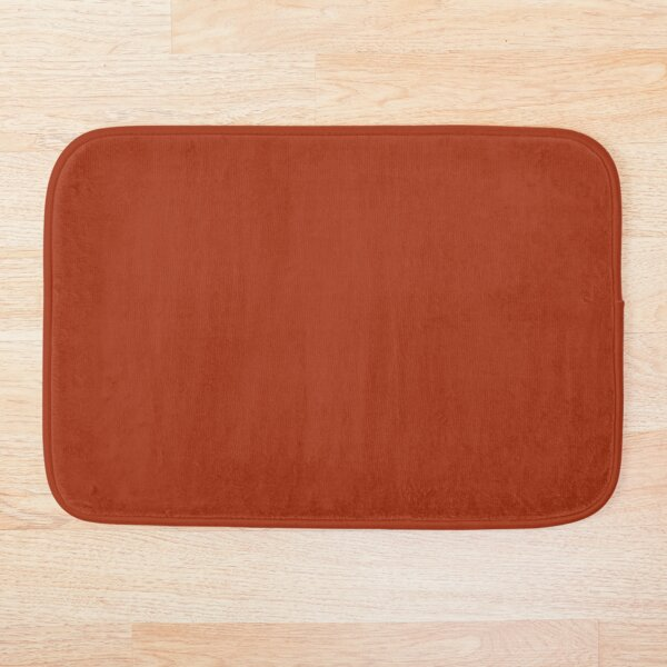 Best Seller - Colors of Autumn Burnt Orange Single Solid Color - Accent Shade / Hue Bath Mat