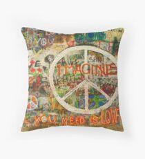 The Beatles John Lennon All You Need is Love Imagine Throw Pillow