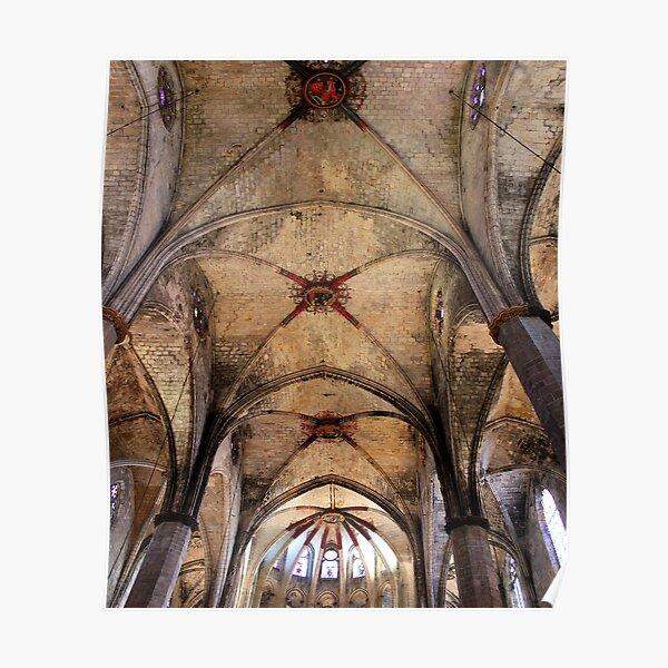 Abstract Cathedral Ceiling Poster