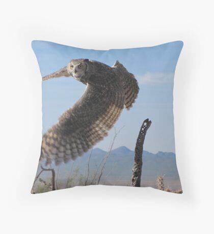 Great Horned Owl ~ 6mo Juvenile Throw Pillow