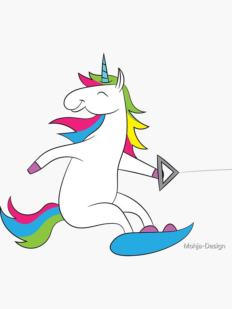 Wakeboard - unicorn on wakeboard by Mohja-Design
