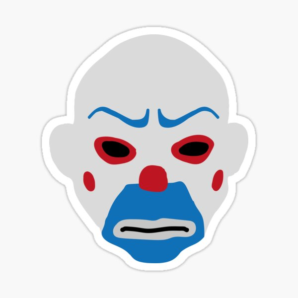Dark Knight Clown Mask Sticker