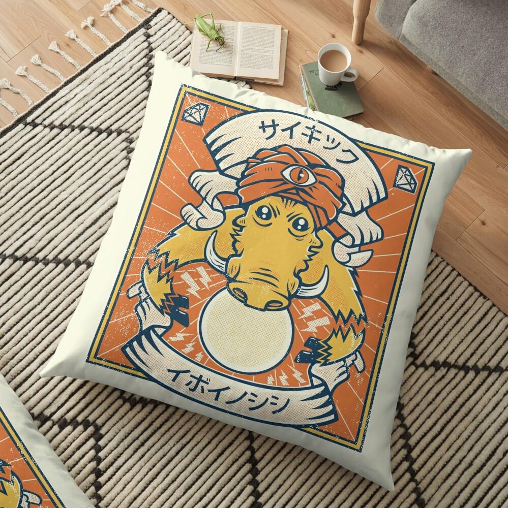 Psychic Warthog Floor Pillow