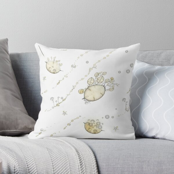 Patate fleurie du Monde Graine - Flowered potatoes from Seed World Throw Pillow