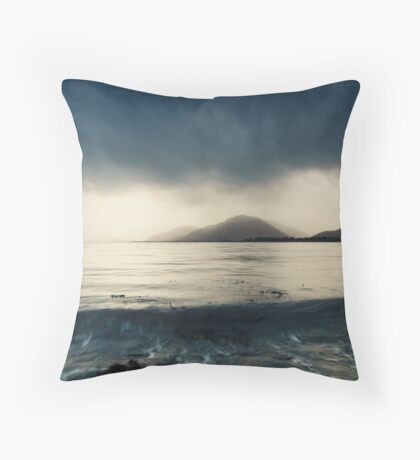 Moody Water Throw Pillow