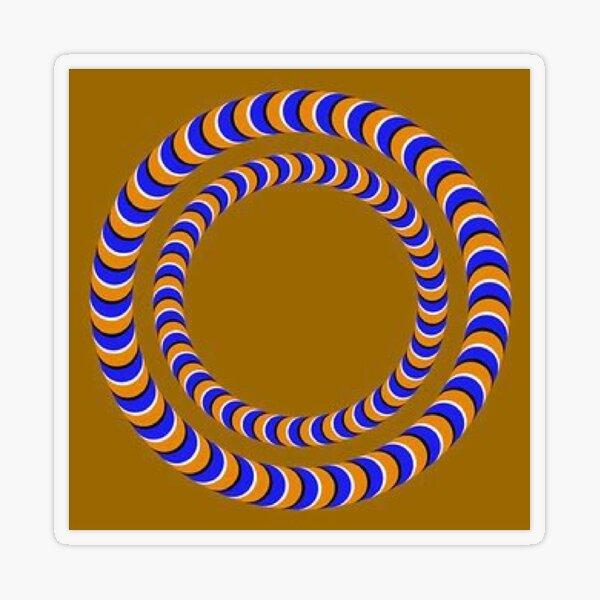Rotating Rings  - #Optical #Illusion #Circles #Moving  Transparent Sticker