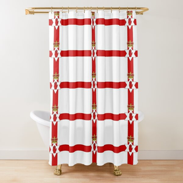 Ulster Banner (flag of Northern Ireland) Shower Curtain