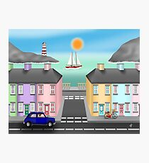 Seaside Town Photographic Print