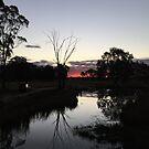Sunset by Little Duna Lake by Fishbait