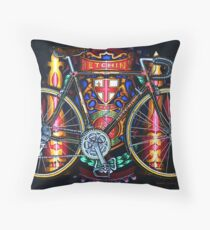 Hetchins Curly Bicycle Throw Pillow