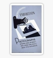 WPA United States Government Work Project Administration Poster 0200 Photography Exhibition Nassau Long Beach Sticker