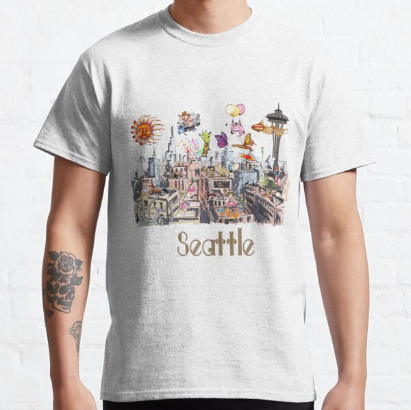 POP ART Crazy City of Seattle  Classic T-Shirt