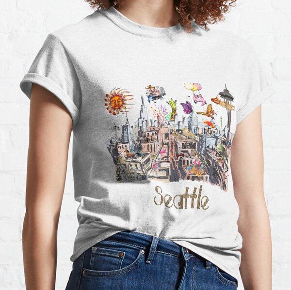 POP ART Crazy City of Seattle  Classic T-Shirt