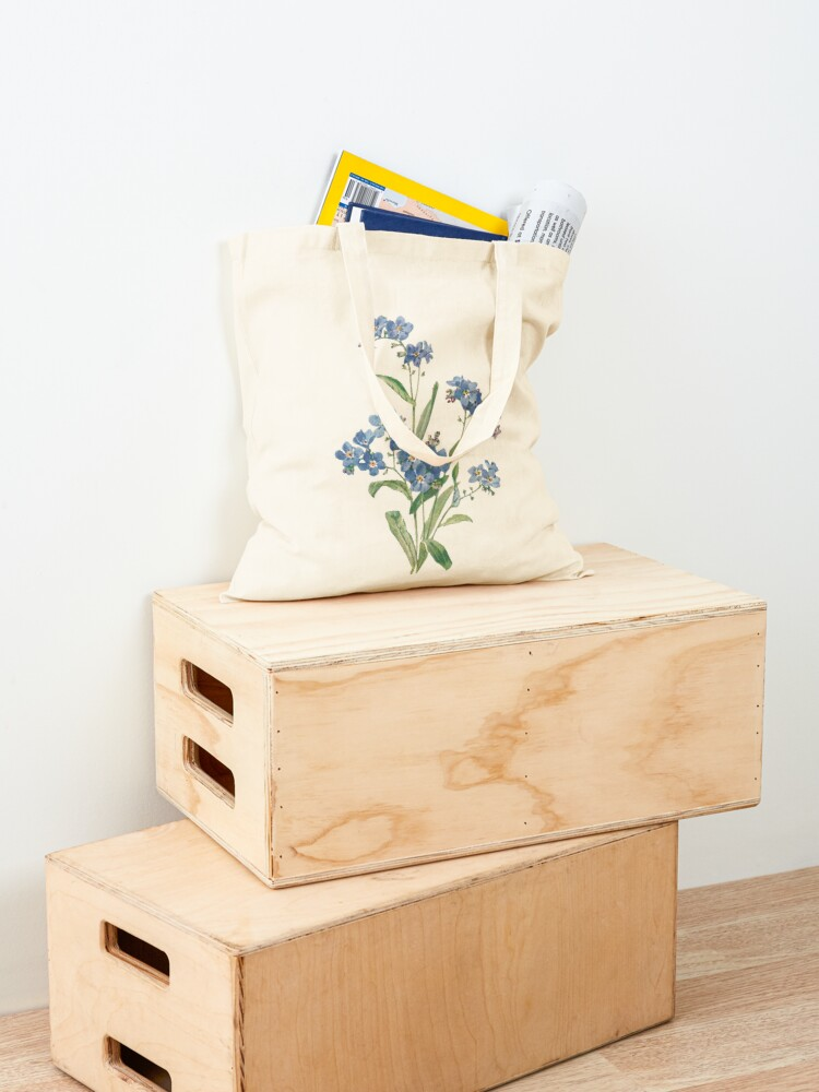 Alternate view of Forget Me Not Design Tote Bag