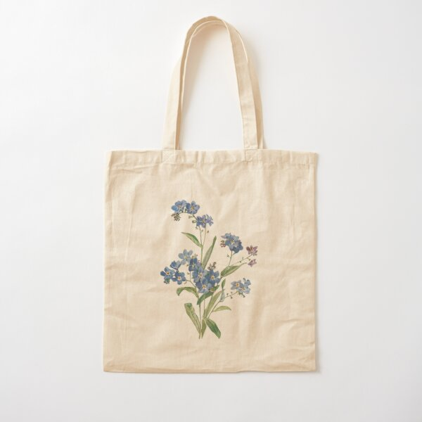 Forget Me Not Design Cotton Tote Bag