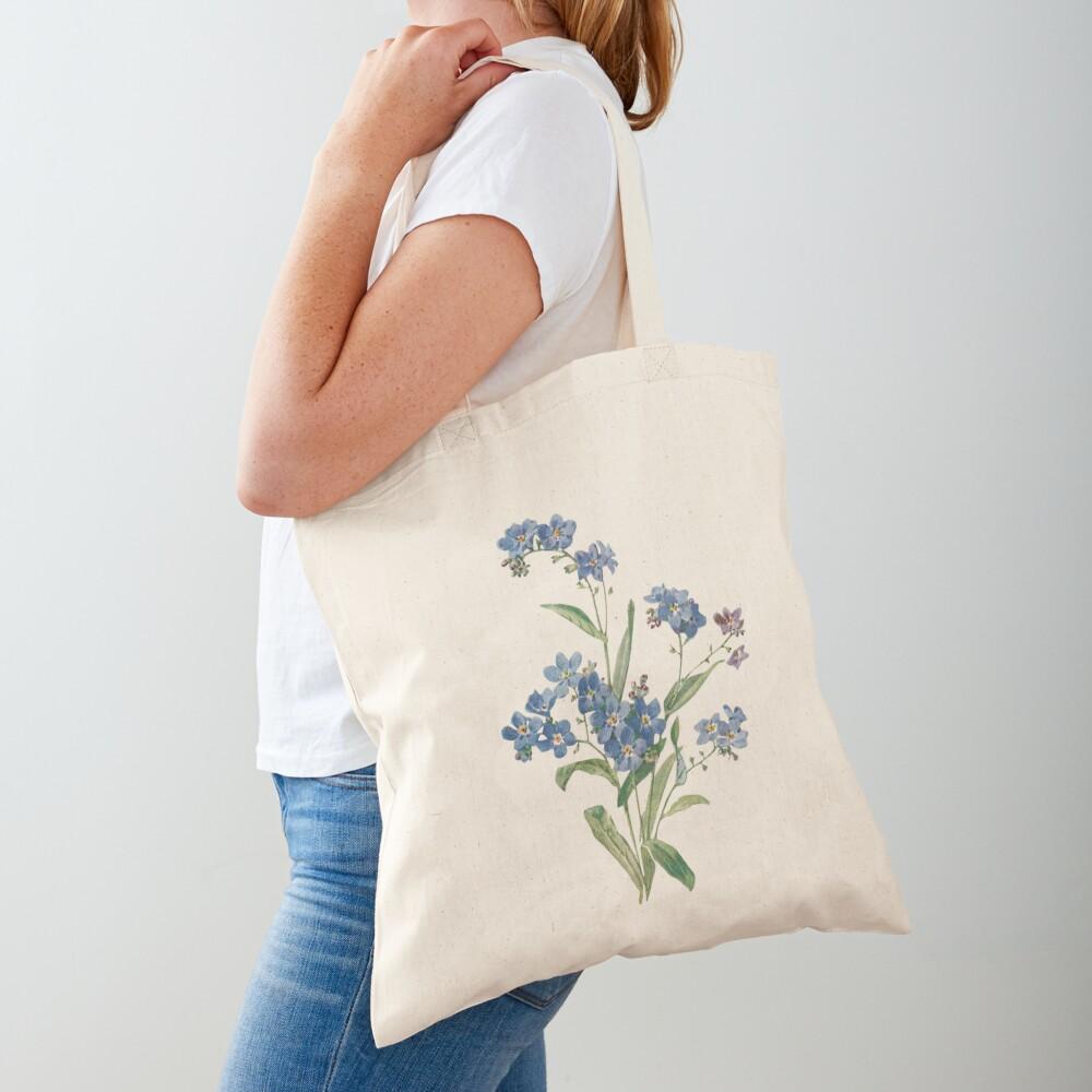 Forget Me Not Design Tote Bag