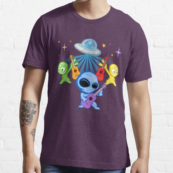 Ukulaliens Ukulele Club Coloured Logo Essential T-Shirt