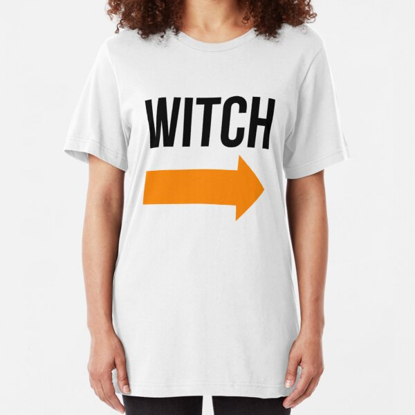 I'm With The Witch Slim Fit T-Shirt