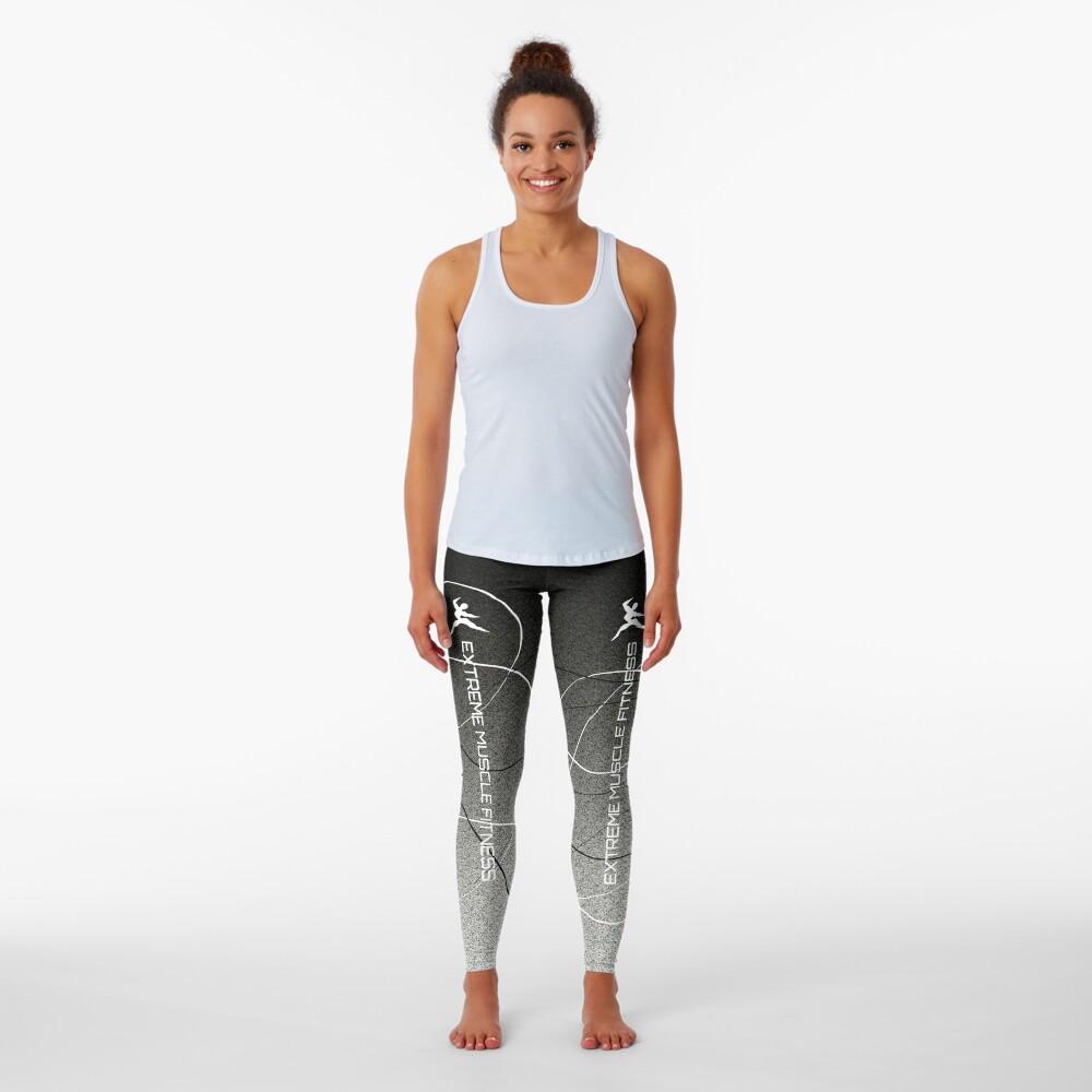 Extreme Muscle Fitness Leggings Black n White Leggings