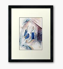 The wave came to me Framed Print