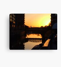 """SUNSET CITY"" Canvas Print"