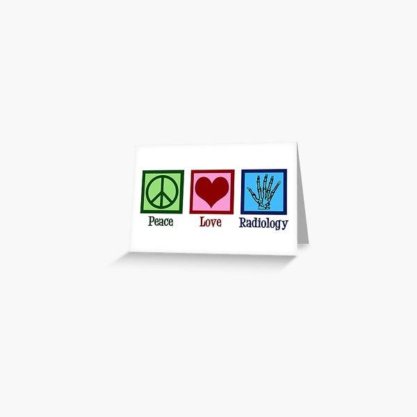 Paz Amor Radiología Tarjetas de felicitación