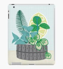 Blue and Green Floral Bouquet in Pottery iPad Case/Skin