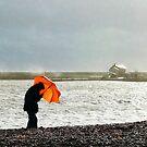 Man With The Orange Umbrella by Susie Peek