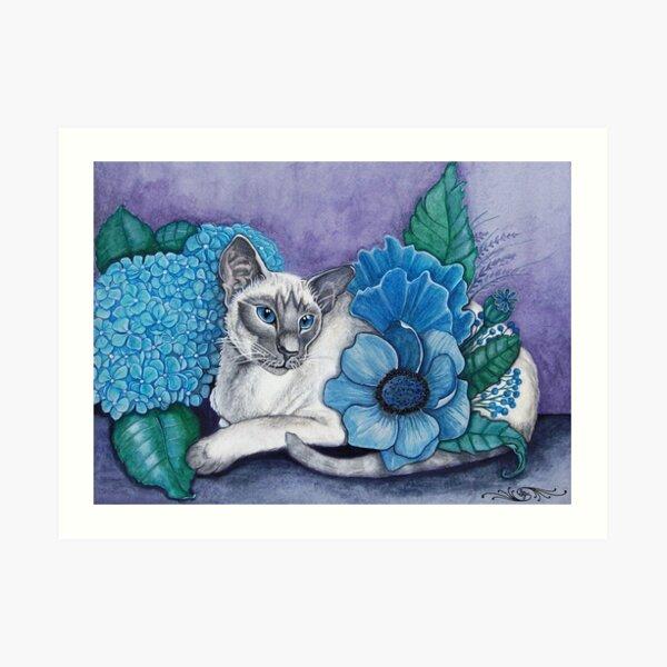 Blue Point Siamese Cat Art Print