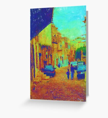 The cobblestone walk Greeting Card