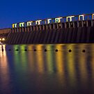 Lake Hume wall at night by John Vandeven