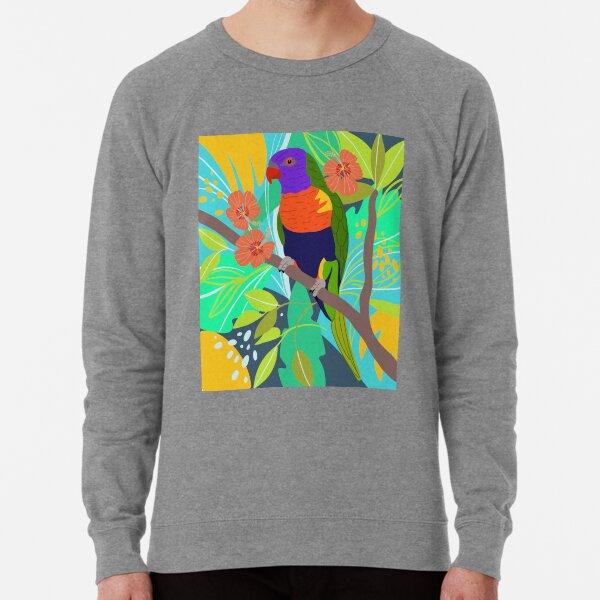 Tropical Jungle Parrot Art Print Lightweight Sweatshirt