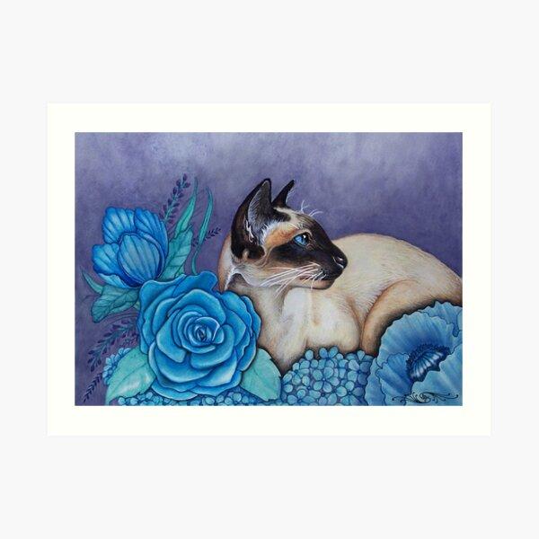 Chocolate Point Siamese Cat Art Print